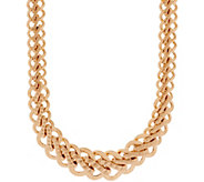 Italian Gold 18 Bold Woven Necklace 14K Gold, 31.4g - J350971