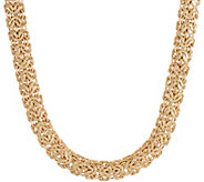 14K Gold 18 Bold Byzantine Necklace, 30.0g - J355071
