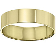 Womens 18K Yellow Gold 6mm Flat Comfort Fit Wedding Band - J375371