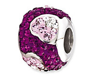 Prerogatives Sterling Purple Crystal Heart Bead - J113272