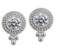 Judith Ripka Sterling Diamonique Dew Drop Button Earrings - J157972
