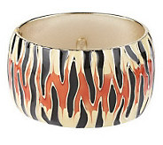 Kenneth Jay Lanes Exotic Tiger Stripe Bangle Bracelet - J262272