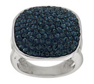 Steel by Design Pave Crystal Cushion Shape Ring - J282172
