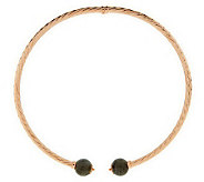 As Is Vicenza Silver Sterling Labradorite Twisted Collar - J286072