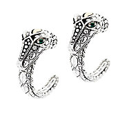 JAI Sterling & 14K Croco Hoop Earrings - J292972