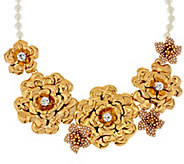 Joan Rivers Limited Edition Gilded Garden 18 Bib Necklace - J293472