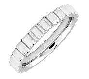 Simply Stacks Sterling 3.25 mm Stair Step Ring - J298072