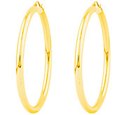 Polished 2-3/8 Round Hoop Earrings, 14K - J308672