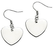 Steel by Design Polished Heart Dangle Earrings - J310472