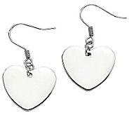 Steel by Design Polished Heart Dangle Earrings - J310472