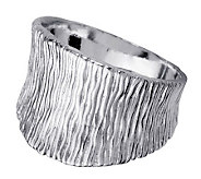 Or Paz Sterling Bark Textured Ring - J311572