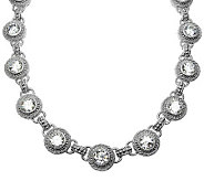 Judith Ripka Sterling Diamonique Round Station20 Necklace - J314372
