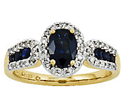 Oval Gemstone and 1/6 ct tw Diamond Ring, 14K Y ellow Gold - J315972