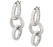 Vicenza Silver Sterling Multi-circle Dangle Earrings - J317172