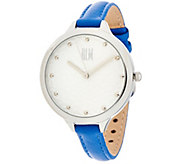 RLM Stainless Steel Silvertone Watch with Leather Strap - J324372
