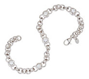 As Is Diamonique 2.50 cttw 8 Line Bracelet, Sterling - J326372