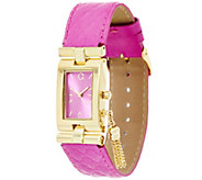 C. Wonder Rectangular Dial Trellis Embossed Strap Watch w/ Tassel - J329372