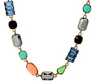 LOGO Links by Lori Goldstein Multi-Shape Stone Necklace - J329472