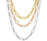 Judith Ripka Sterling & 14K Clad 60 Verona Tri-Tone Necklace 80.0g - J331272