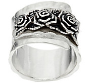 Sterling Silver Triple Rose Band Ring by Or Paz - J331472
