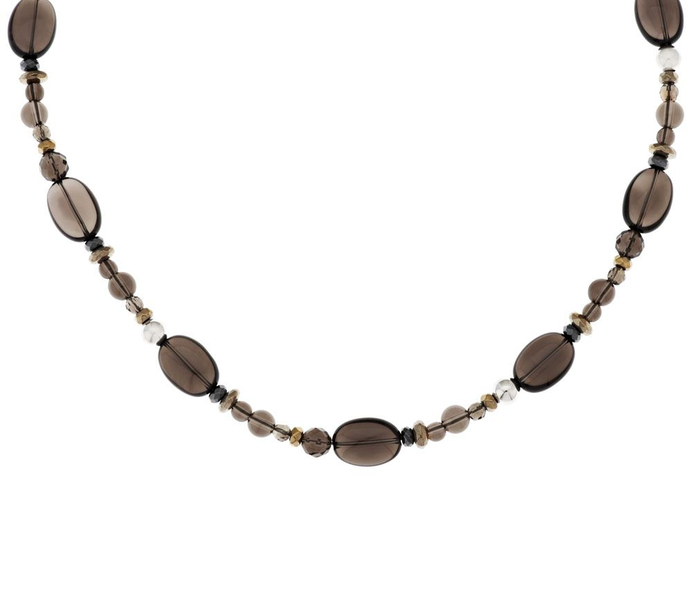 As is carolyn pollack sterl smoky quartz hematite for Carolyn pollack jewelry qvc