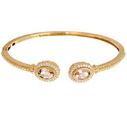 Judith Ripka 14K Gold Morganite & Diamond Cuff Bracelet - J334272