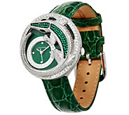 Judith Ripka Stainless Steel Alligator Charlotte Watch - J334372