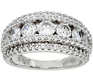 Diamonique Multi-Row Band Ring, Sterling - J347072