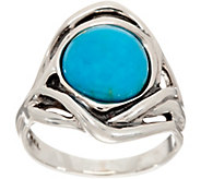 Hagit Sterling Silver Turquoise Organic Ring - J347572