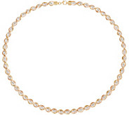 Arte d Oro 20 Diamond Cut Bead Omega Necklace, 18K Gold, 22.9g - J349172