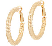 Bronze Diamond Cut Round Hoop Earrings by Bronzo Italia - J349372