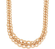 Italian Gold 20 Bold Woven Necklace, 14K Gold, 34.4g - J350972