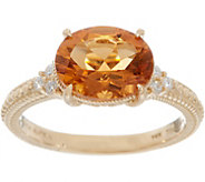 Judith Ripka 14K Gold 1.95 cttw Citrine & Diamond Ring - J352572