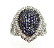 Judith Ripka Sterling & Iolite Pave Ring - J376872