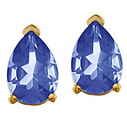 14K Yellow Gold Pear-Shaped Gemstone Stud Earrings - J376972