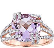 14K 4.50 ct Rose de France & 3/4 cttw Diamond Cocktail Ring - J379172