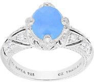 Judith Ripka Sterling Milky Aquamarine Diamonique Ring - J379472