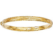 Italian Gold Grooved Diamond-Cut Bangle 14K, 10.6g - J381572