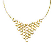 Italian Gold Beaded Bib Necklace 14K, 14.8g - J381972