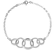 Italian Gold 8 Wide Cable Glimmer Link Bracelet 14K, 3.0g - J382072
