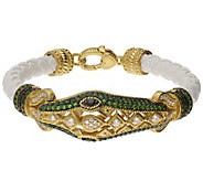 Judith Ripka 14K Clad Gemstone Sophie Snake Bracelet - J383572