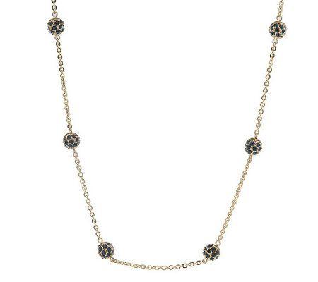 nolan miller s sparkling goldtone pave necklace