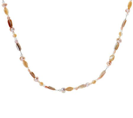Carolyn Pollack Pebble Beach Pearl & Sterling Bead Necklace - J269473