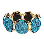 As Is Joan Rivers Simulated Drusy Oval Stretch Bracelet - J277073
