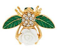 Joan Rivers Limited Edition Gardenia Bee Pin - J279273