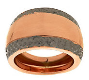 VicenzaGold Two-tone Diamond Cut Border Domed Ring, 14K - J279873
