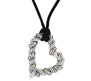 "Product image of JAI John Hardy Sukhothai Sterling & 14K Accent 38"" Adj Heart Necklace"