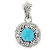 Judith Ripka Sterling & Diamonique Turquoise Enhancer - J293773