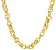 Bronze 16 Textured Triple Rolo Link Necklace by Bronzo Italia - J294673
