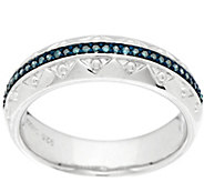 Diamond Textured Band Ring Sterling, 1/10 ct tw by Affinity - J296873